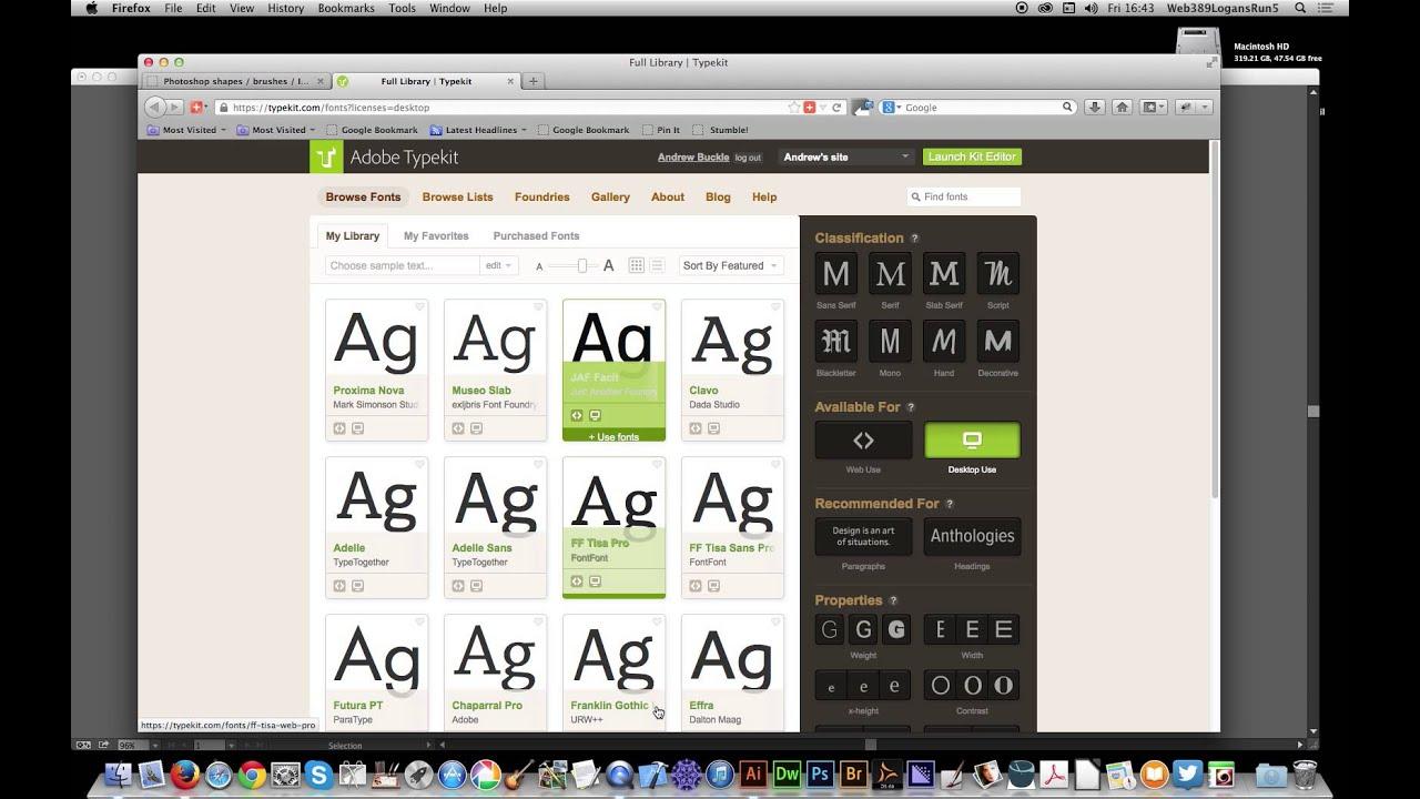Illustrator cc 171 add fonts via typekit youtube illustrator cc 171 add fonts via typekit ccuart Images
