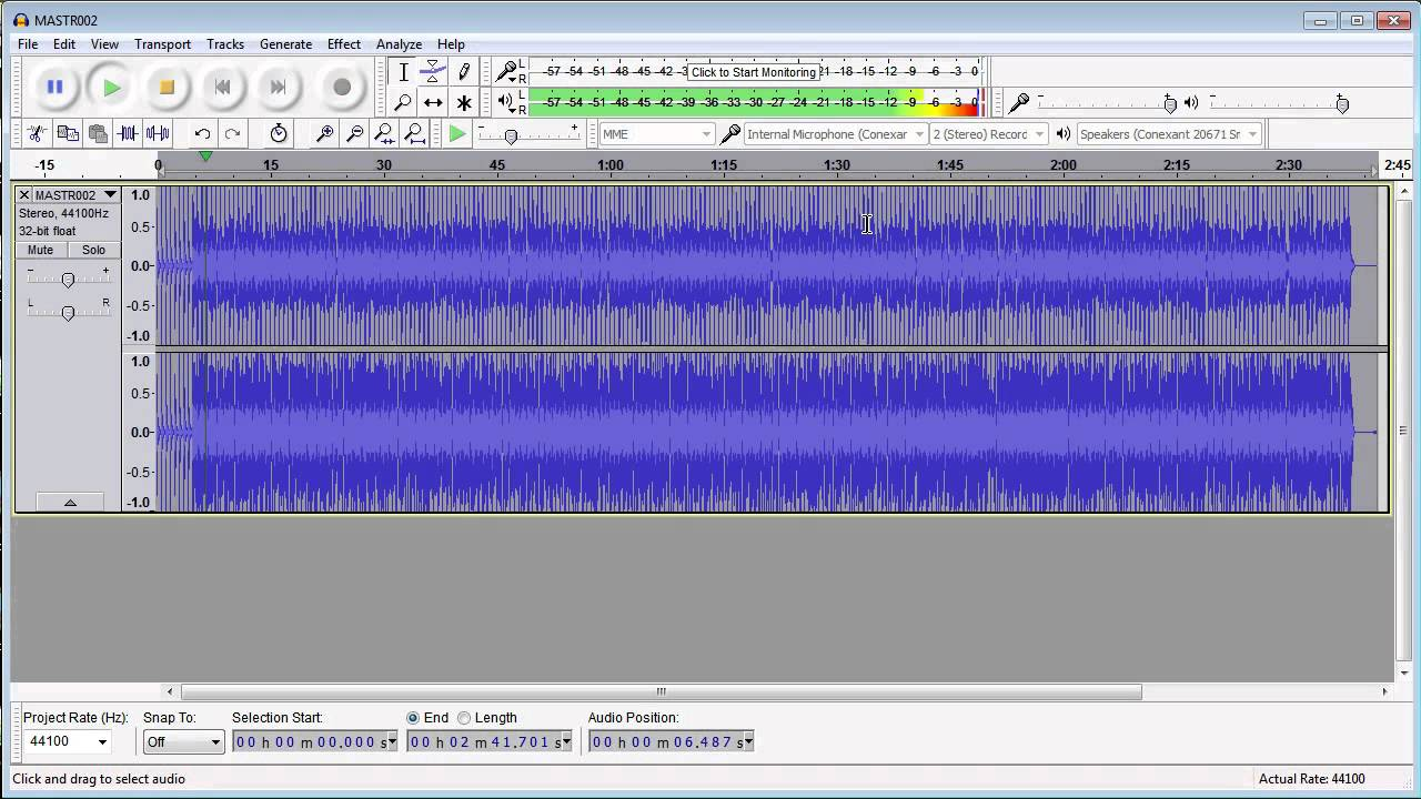Easy mastering of audio files for YouTube using free software
