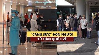 """""""Căng sức"""" đón người về từ Hàn Quốc qua sân bay Cần Thơ"""