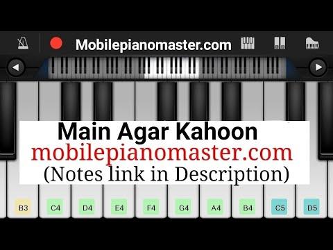 Tumko Paya hai to Jaise khoya hai(Main Agar Kahoon) Piano|Piano Keyboard|Piano Lessons|Piano Music