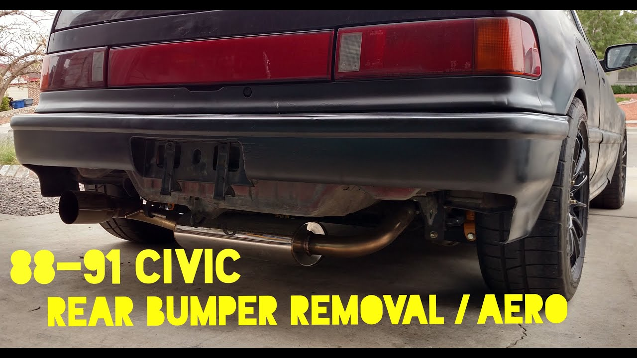 How to Remove Rear Bumper on Civic CRX 88-91 - Weight ...