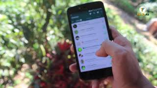 Using Whatsapp blurry footage | Royalty free footage of using whatsapp in mobile phone
