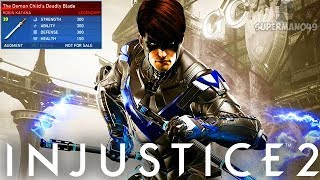 "Legendary Nightwing With Staff Of Grayson! - Injustice 2 ""Robin"" Legendary Gear Gameplay"