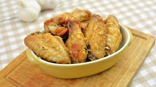 Garlic Chicken Wings - How to Make Fried Chicken Wings