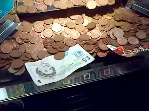 Coin Pusher Machine Win Cash and Scratchcard !! - YouTube