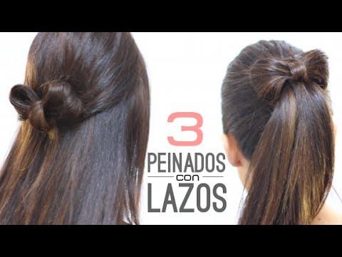 peinados fáciles con lazos - youtube