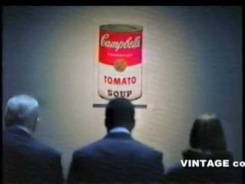 ANDY WARHOL Campbell's Soup ad from 2002