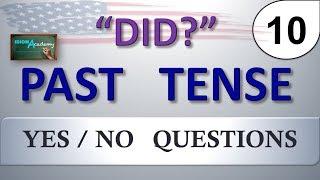 """Pasado Simple en INGLES # 10 (formando preguntas con """"DID"""") - PAST TENSE"""