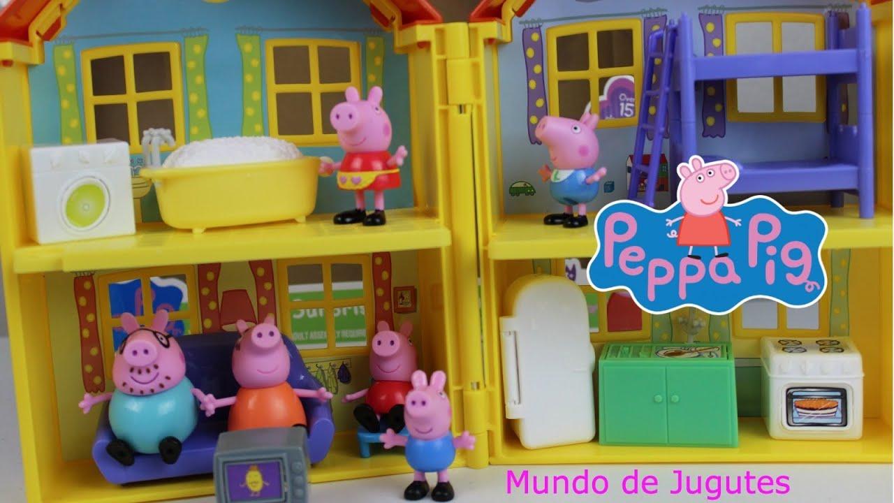 Peppa pig la casa el auto figuras jugutes varidos peppa for Casa de juguete para jardin