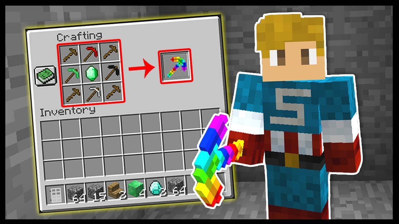 HOW TO CRAFT THE RAINBOW PICKAXE *OVERPOWERED*