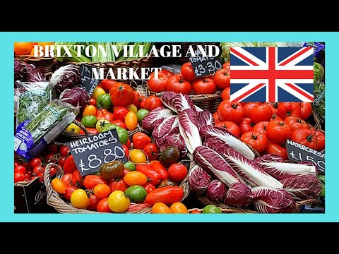 LONDON, BRIXTON VILLAGE and MARKET on a busy Saturday (ENGLAND)