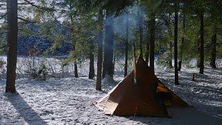 SUB-ZERO (-30°C) Winter H๐t Tent Camp