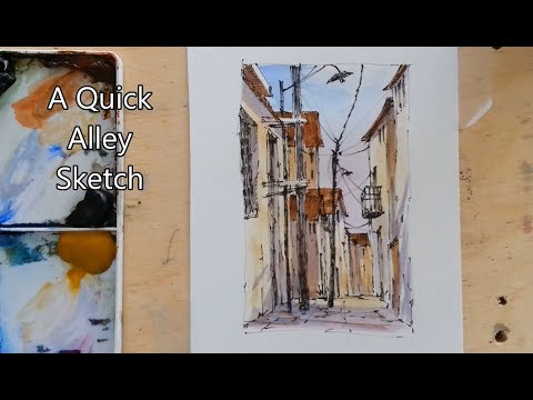 A Quick Alley Sketch with Minimum of Colors. Easy to follow. Peter Sheeler