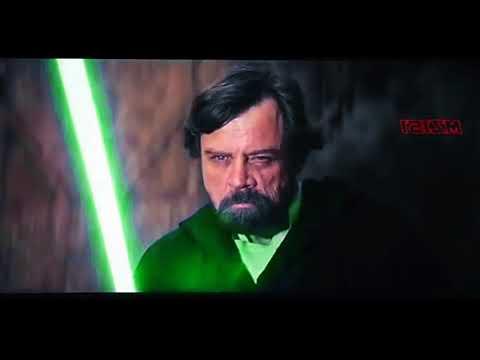 Luke vs Kylo Ren (Green Lightsaber edit)
