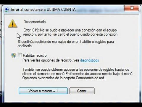 COMO SOLUCIONAR EL ERROR 619 DE CONEXION