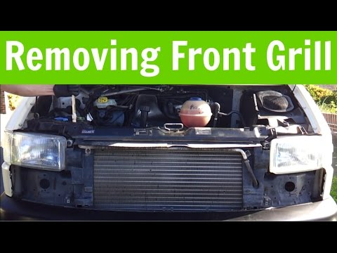 VW T4 Transporter Removing Front Grill - Moving Radiator Into Service Position