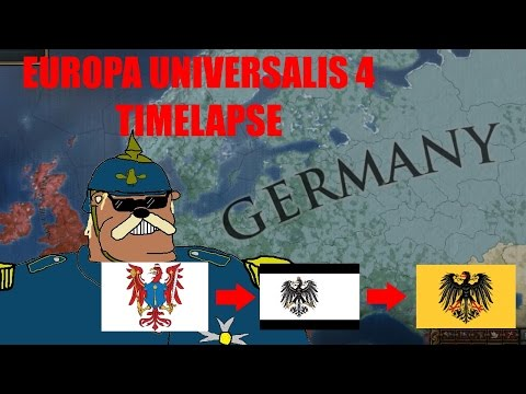 EU4 - Brandenburg to Prussia to Germany Timelapse