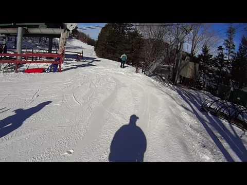 Cannon Mountain 2016 on Zoomer going fast recovering from crush