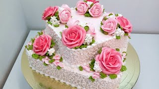 Торт на Юбилей крем БЗК Cake on Anniversary protein custard