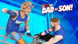 DAD vs SON in a CAGE! WWE 2k19 Family Battle | K-City GAMING