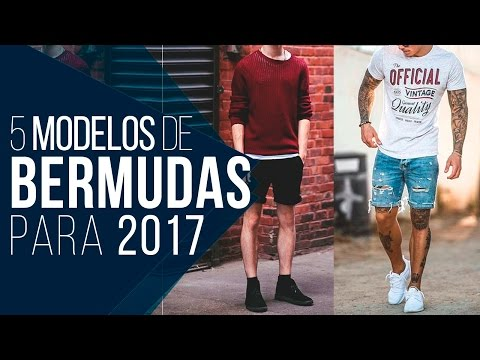 BERMUDA MASCULINA: 5 Modelos em alta pra 2017 - Tendências Masculinas #22