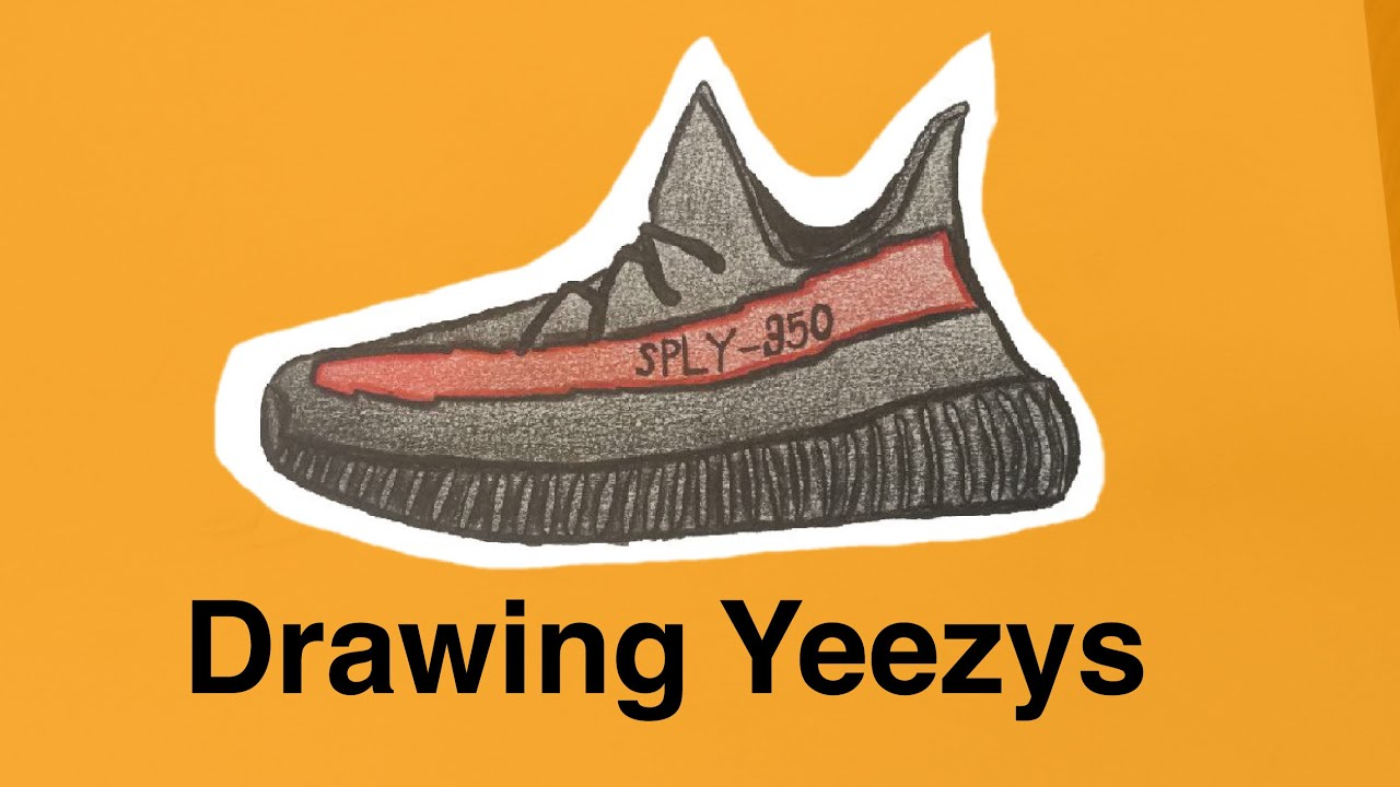 How To Draw Yeezy Boost 350 V2s
