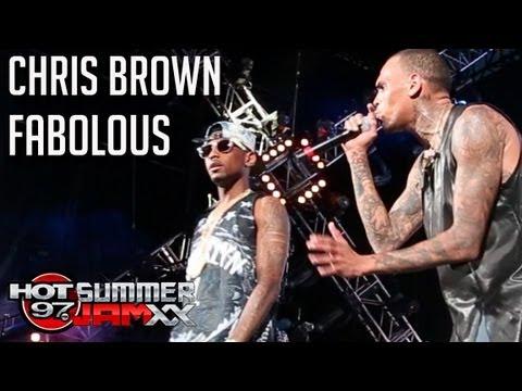 Chris Brown & Fabolous perform
