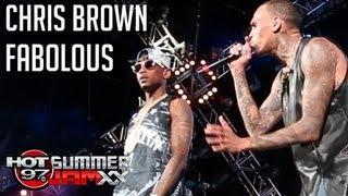 """CHRIS BROWN & FABOLOUS """"Ready"""" Live at Hot97 Summer Jam XX"""