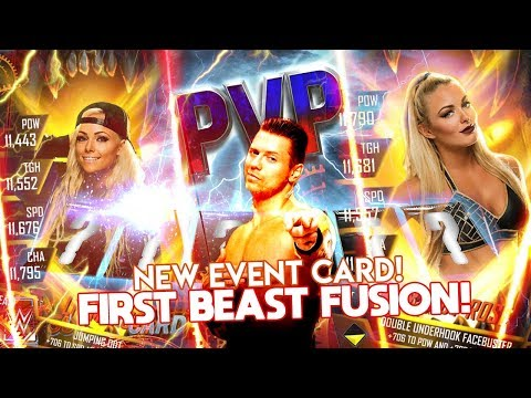WWE SUPERCARD: FIRST BEAST FUSION PULL! | PVP REWARDS! | THE MIZ EVENT CARD!