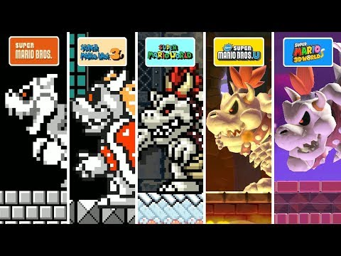 Super Mario Maker 2 - All Dry Bowser Forms
