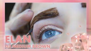 Окрашивание бровей гель-краской Elan 03 medium brown