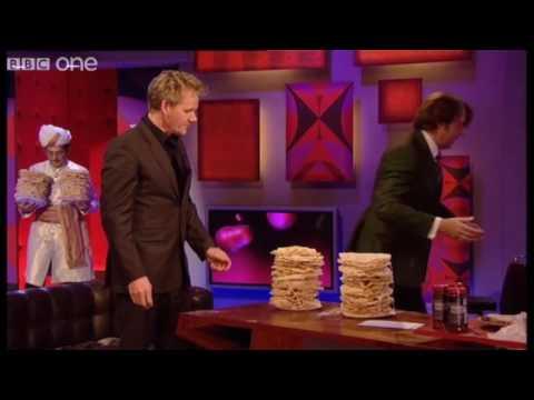 Poppadom Tower -  Friday Night with Jonathan Ross - BBC One