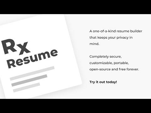 Reactive Resume - Free & Open Source Resume Builder
