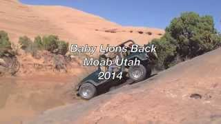 Jeep in Deep Water at Baby Lions Back. Moab Utah