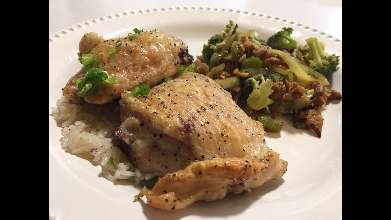 Blue apron greek chicken - Blue Apron Roasted Chicken Teriyaki Vegetables Cooking Review