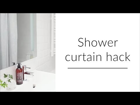 Shower curtain hack (2018)