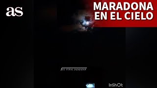MARADONA | 'Aparece' con la camiseta de ARGENTINA en el cielo | DIARIO AS