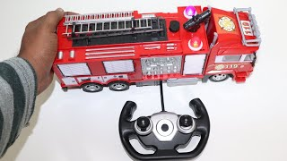 Remote Control Fire Engine Truck with Water Spray Mode - Chatpat toy tv