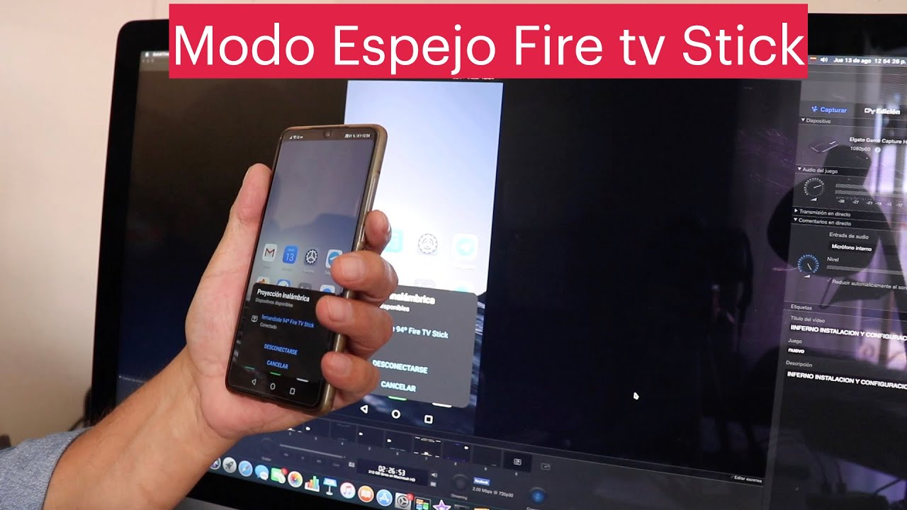 Modo Espejo Del Celular A Fire Tv Youtube