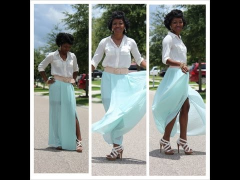 Quick OOTD Mint Maxi Skirt