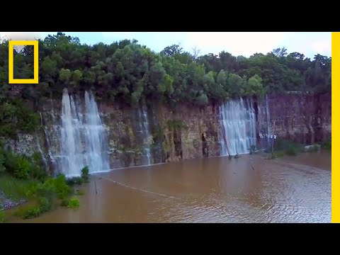 Thumbnail: This Empty Quarry Transformed Into a Waterfall-Filled Lake | National Geographic