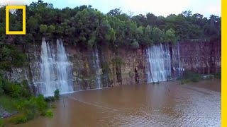 This Empty Quarry Transformed Into a Waterfall Filled Lake | National Geographic