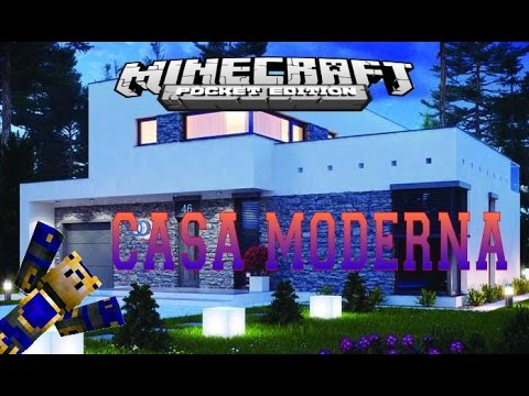 casa moderna minecraft pe youtube
