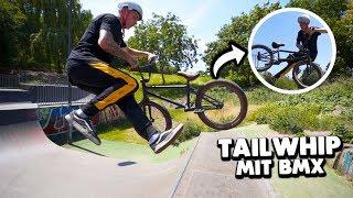 ich lerne den bisher SCHWIERIGSTEN TRICK mit BMX 😱 (Tailwhip)