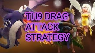 NEW 3 STAR DRAGON ATTACK STRATEGY ON TOWN HALL 9 WITH QUEEN WALK