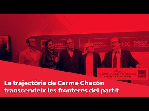La trajectòria de Carme Chacón transcendeix les fronteres del partit