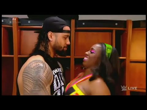 The Usos  With Naomi Backstage Segment at Smackdown live