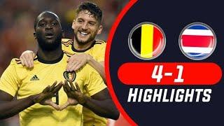 Bélgica VS Costa Rica 4-1 Todos los goles y aspectos destacados 11 de junio 2018