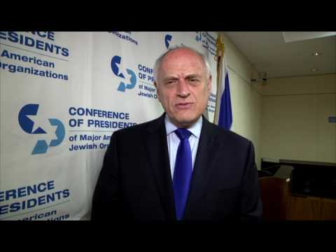 Malcolm Hoenlein, CEO of the Conference of Presidents of Major American Jewish Organizations