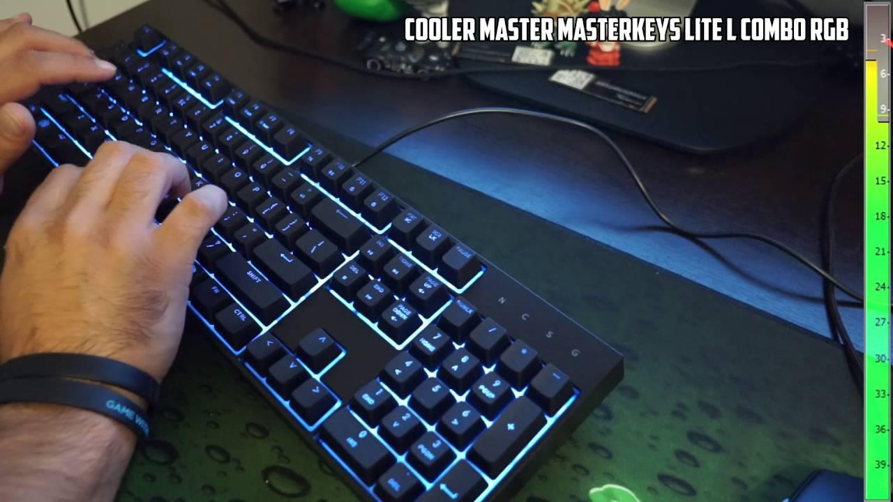 Cooler Master SGB-3040-KKMF1-US MasterKeys Lite L Gaming Keyboard /& Mouse Combo,